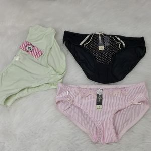 5/$25 NWT pantie bundle of 3 size small